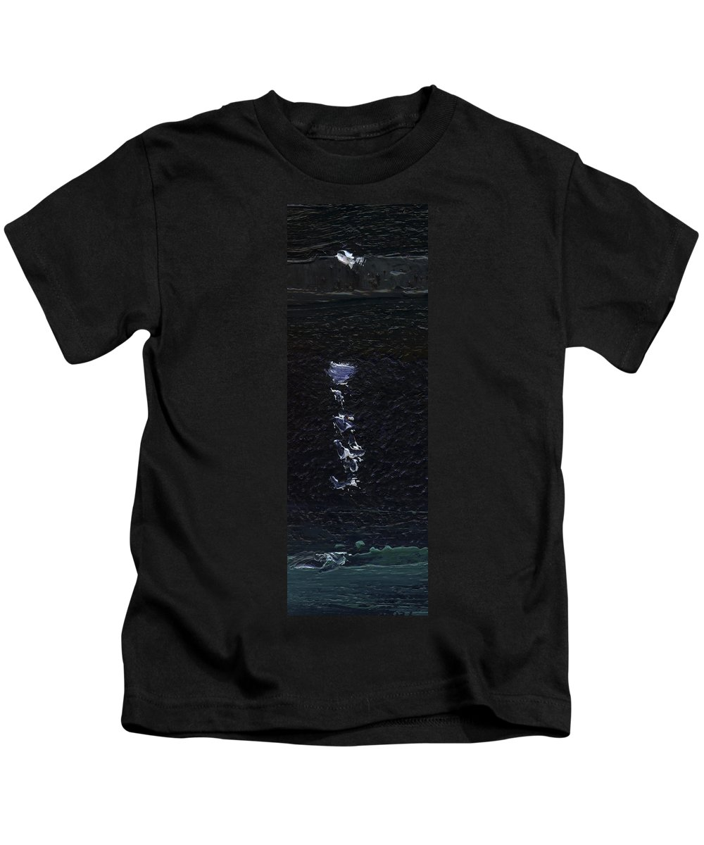 Colour Kids T-Shirt featuring the painting Dingle Quay By Night Detail 3 On The Wild Atlantic Way Of Western Ireland by Catherine Considine