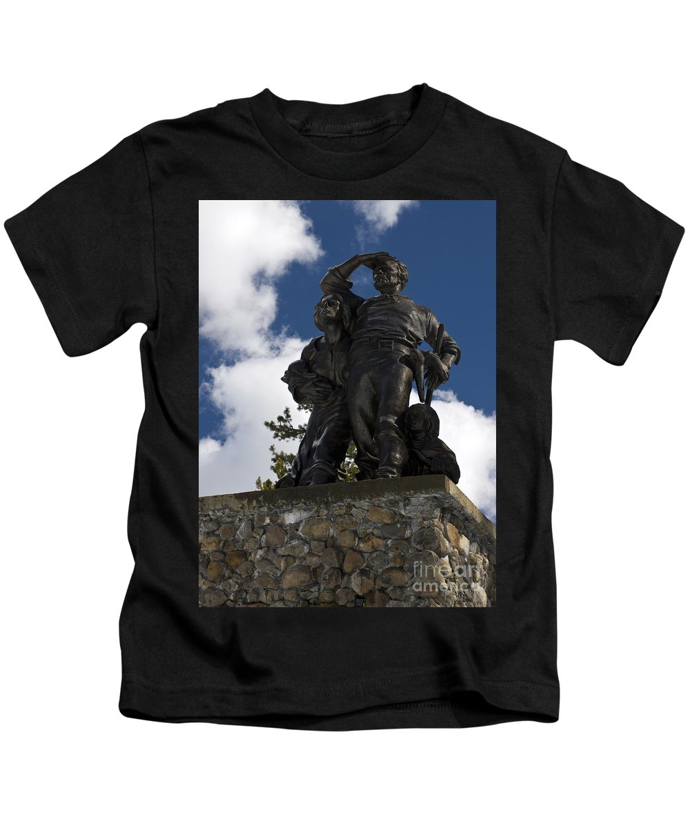 Travel Kids T-Shirt featuring the photograph Donner Party Monument by Jason O Watson