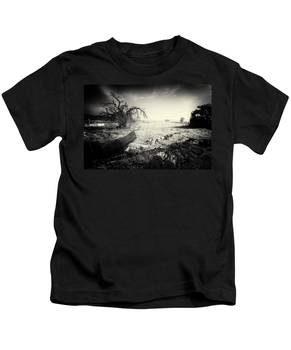 Morning Kids T-Shirt featuring the photograph Early Morning Light by Wayne Sherriff