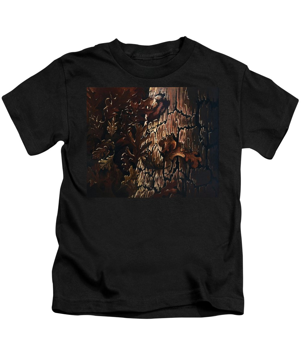 Abstract Kids T-Shirt featuring the painting Eruption by William Russell Nowicki