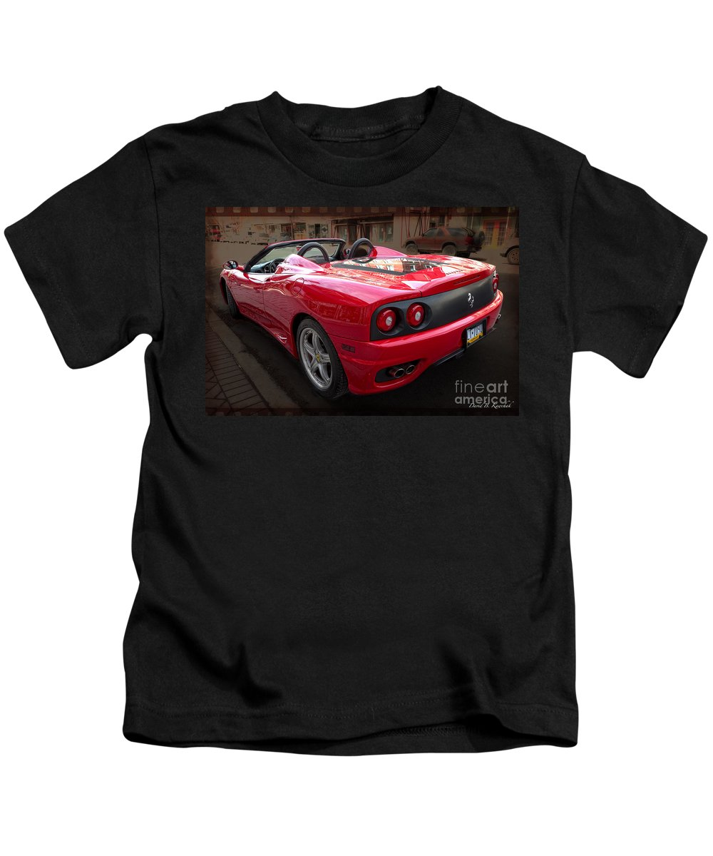 Ferrari Kids T-Shirt featuring the photograph Ferrari 360 Spider by David B Kawchak Custom Classic Photography