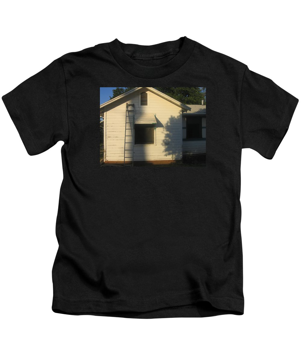 Film Noir John Garfield Lana Turner The Postman Always Rings Twice Ladder House Black Canyon Arizona Kids T-Shirt featuring the photograph Film Noir John Garfield Lana Turner The Postman Always Rings Twice Ladder House Black Canyon Az by David Lee Guss