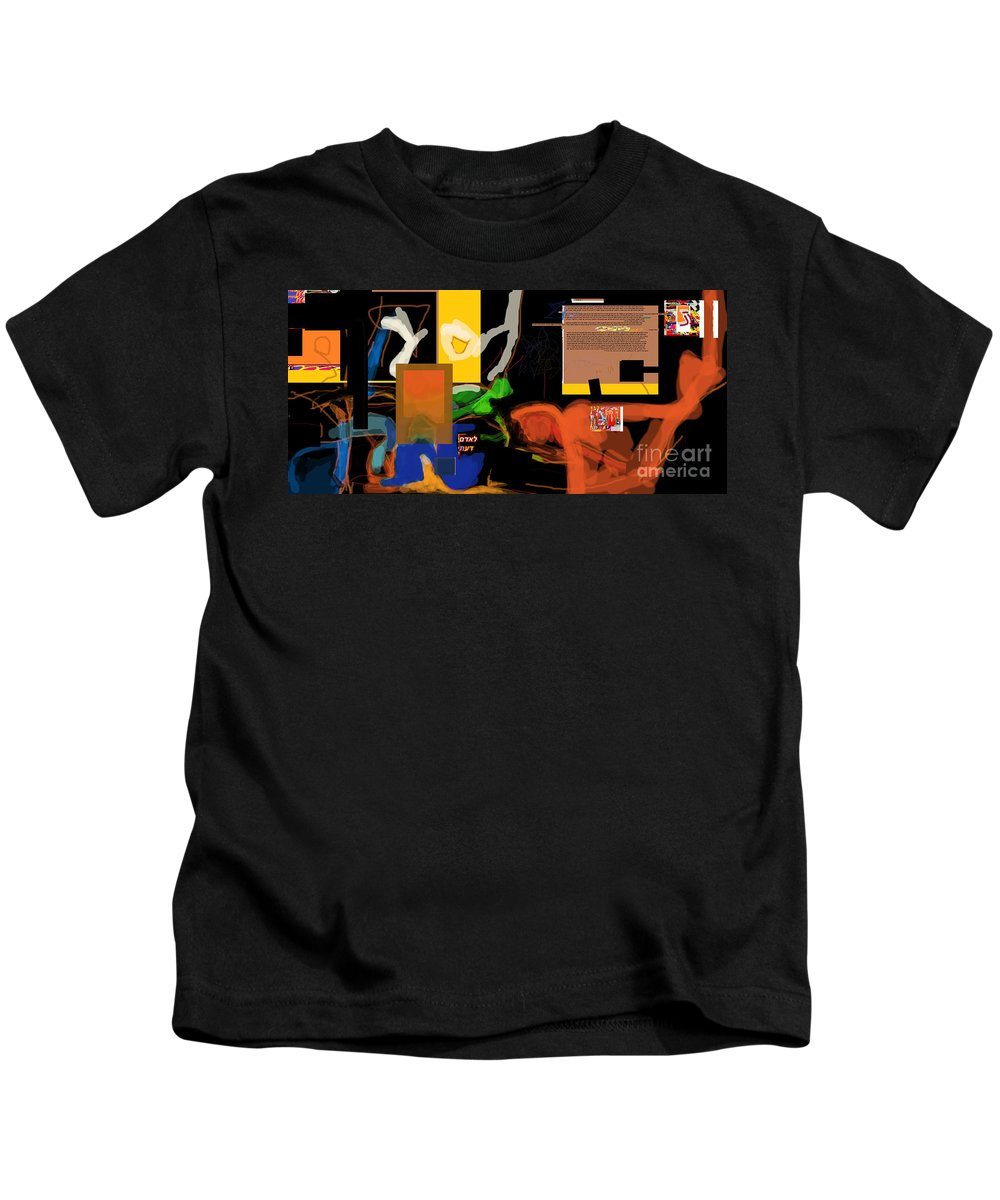 Kids T-Shirt featuring the digital art Fixing Space 1h by David Baruch Wolk