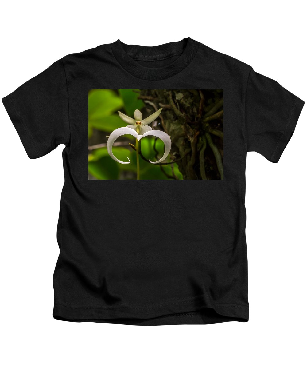 Ghost Orchid Kids T-Shirt featuring the photograph Ghost Orchid by Dennis Goodman