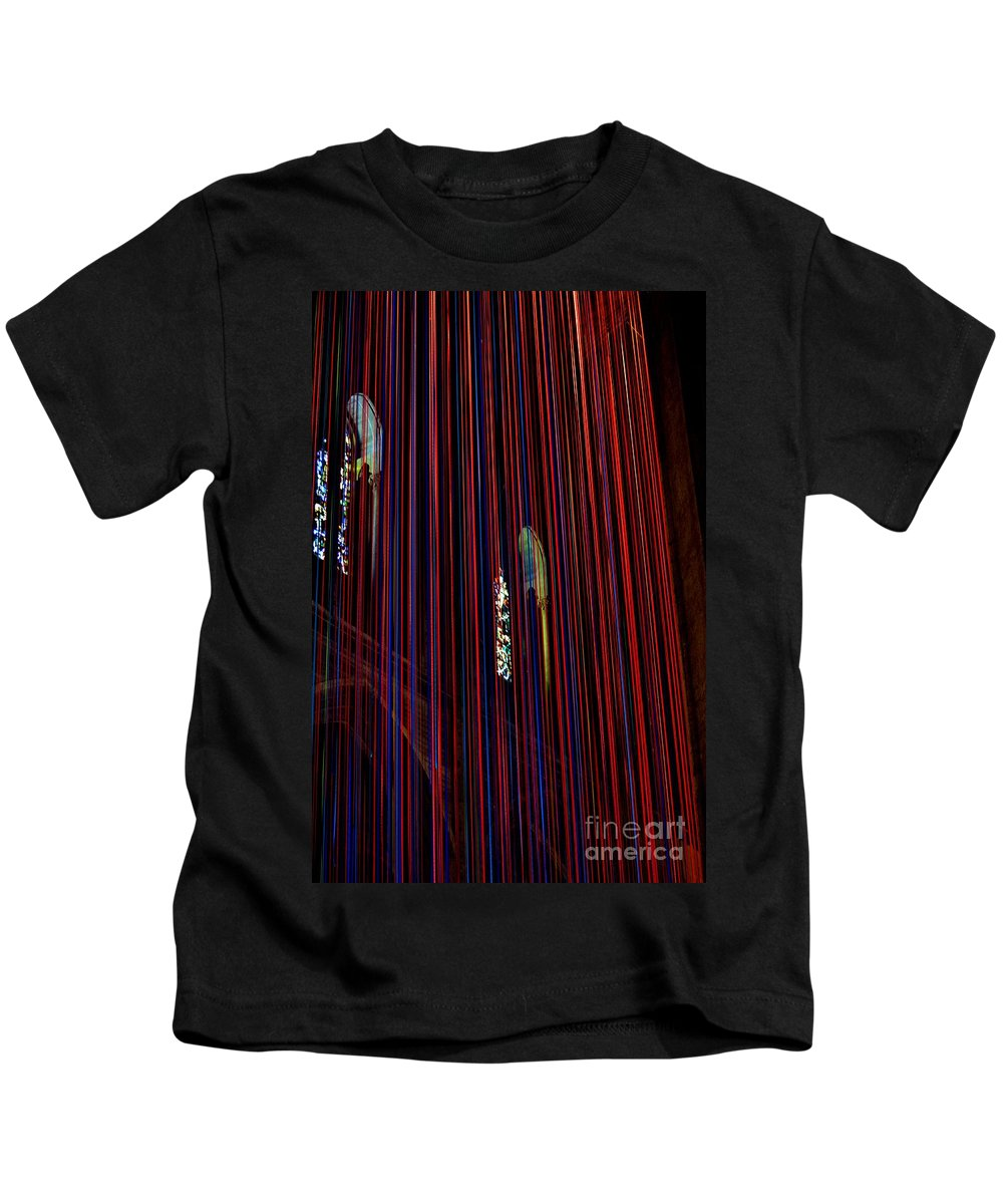Grace Cathedral Kids T-Shirt featuring the photograph Grace Cathedral With Ribbons by Dean Ferreira