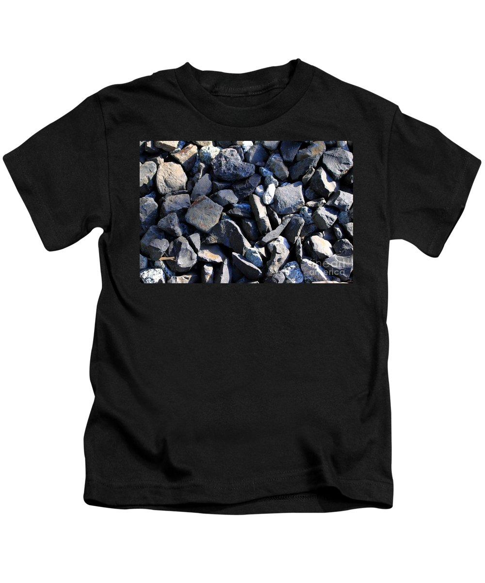 Background Kids T-Shirt featuring the photograph Gravel by Henrik Lehnerer