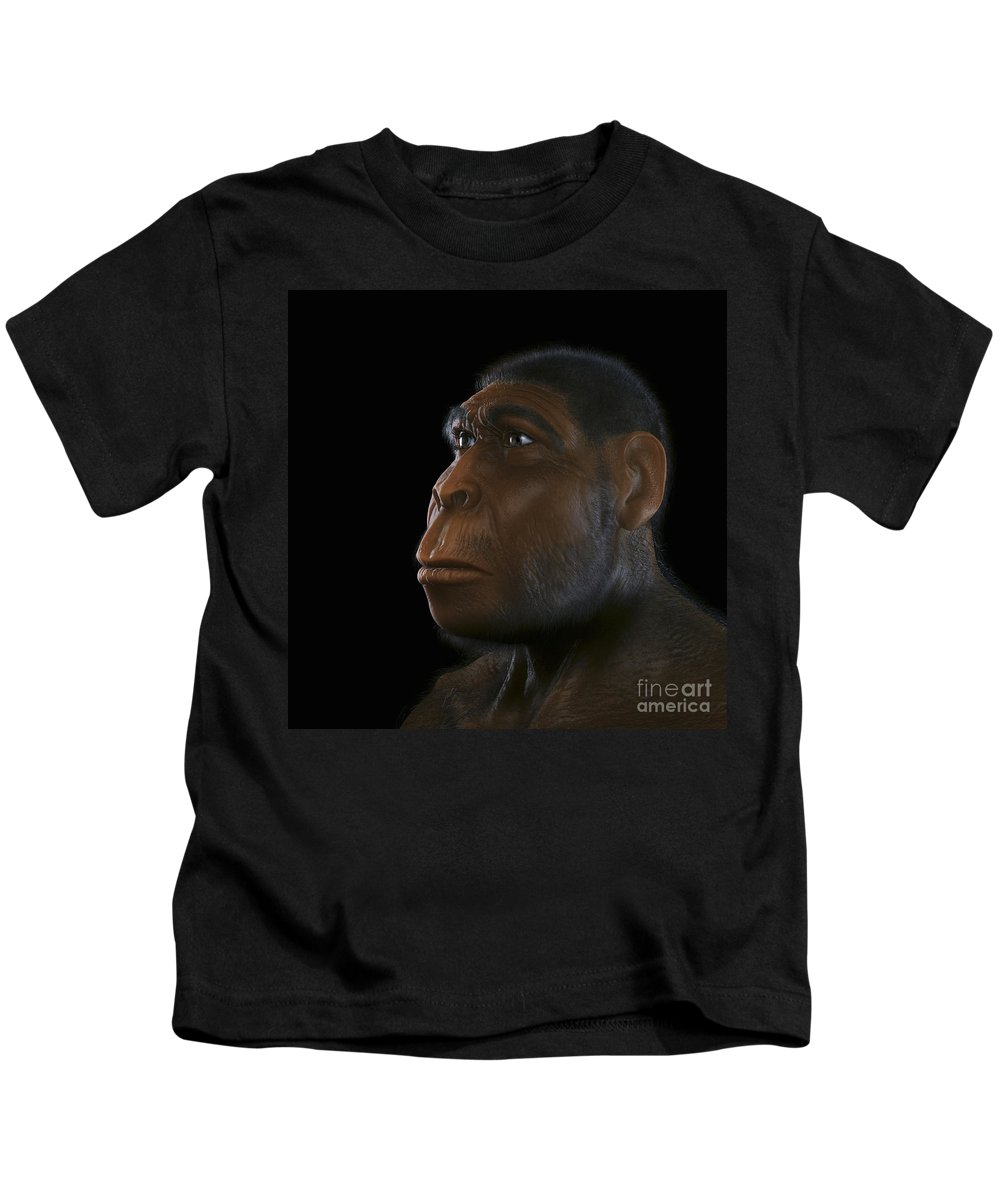 Extinction Kids T-Shirt featuring the photograph Homo Erectus by Science Picture Co