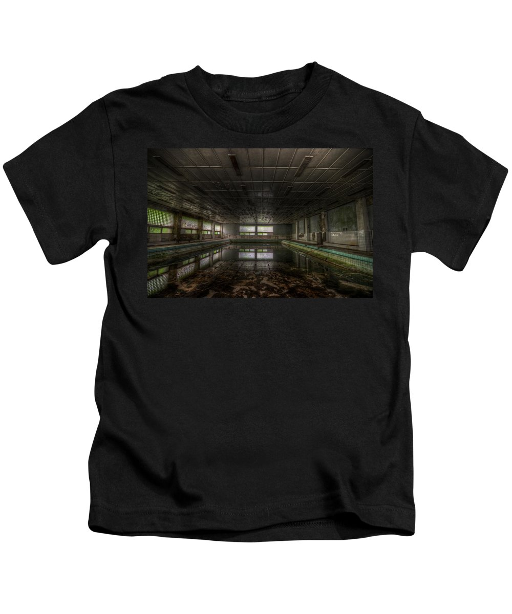 Soviet Kids T-Shirt featuring the digital art In At The Deep End by Nathan Wright