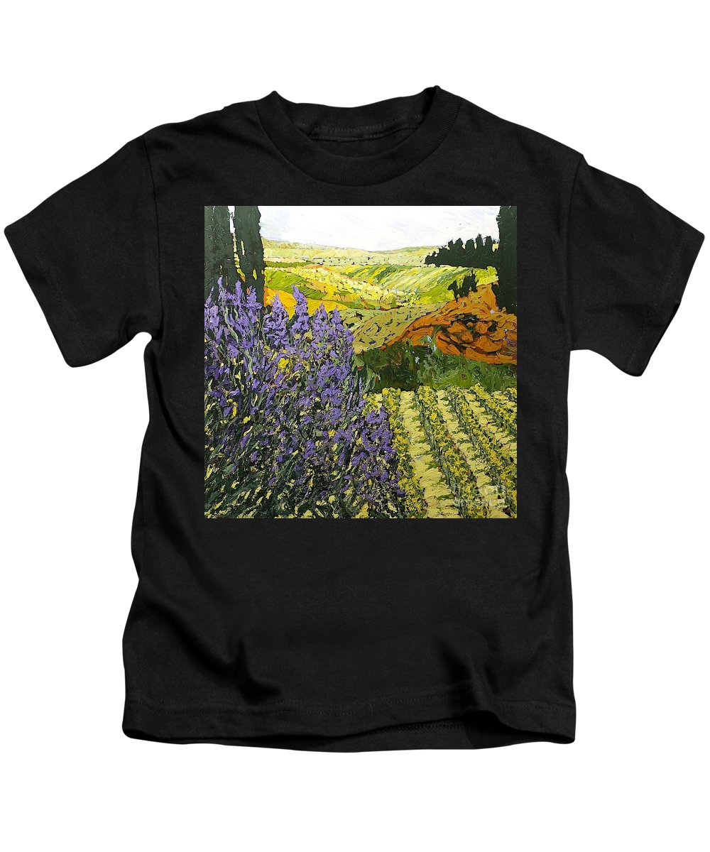 Landscape Kids T-Shirt featuring the painting It Is Magic by Allan P Friedlander