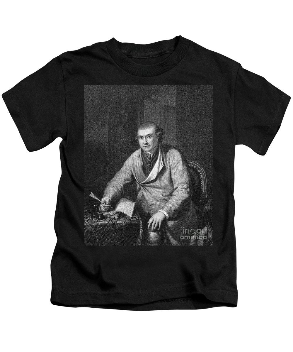 18th Century Kids T-Shirt featuring the photograph John Hunter (1728-1793) by Granger