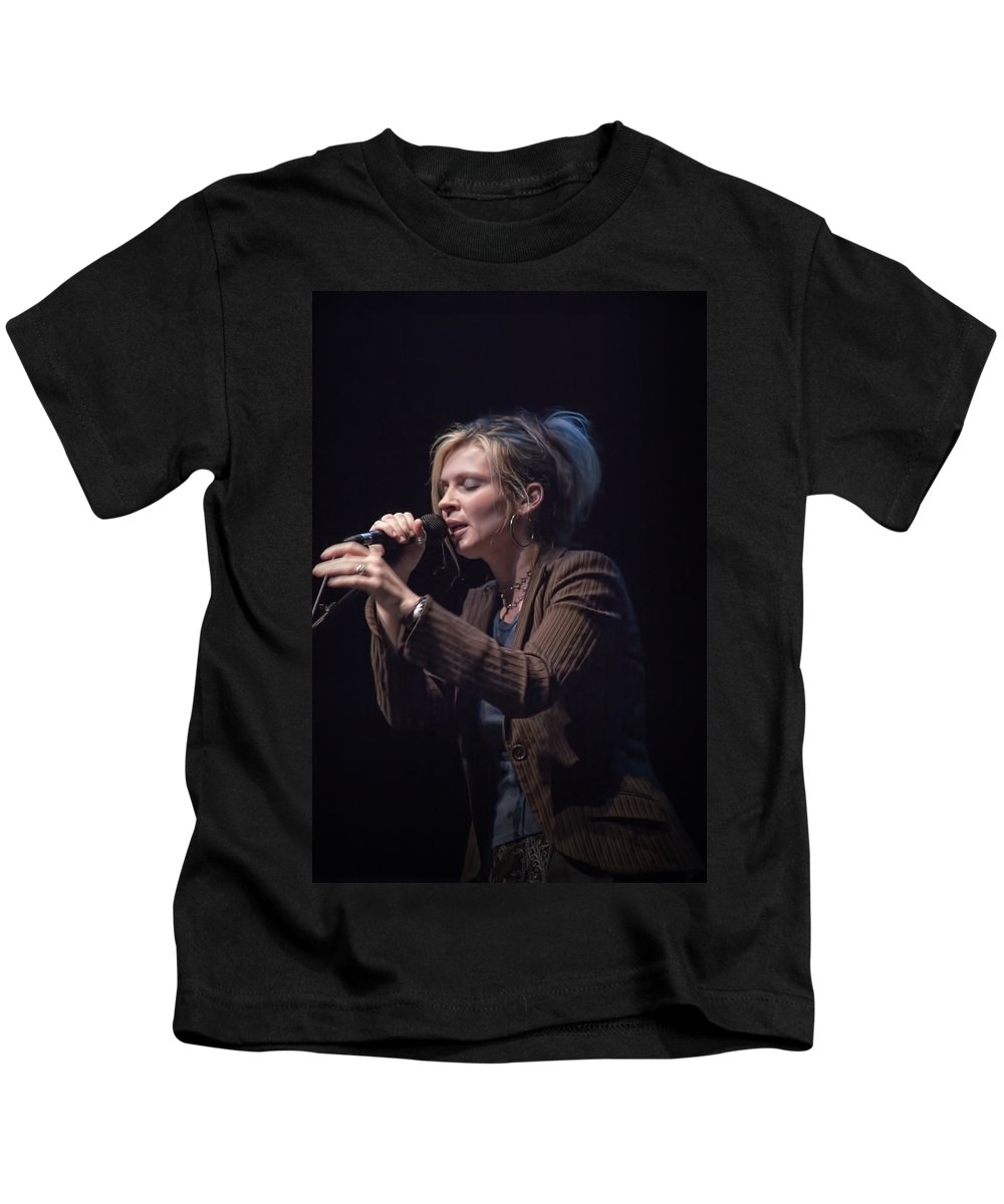Art Kids T-Shirt featuring the photograph Karin Bergquist Lead Singer Of Over The Rhine by Randall Nyhof