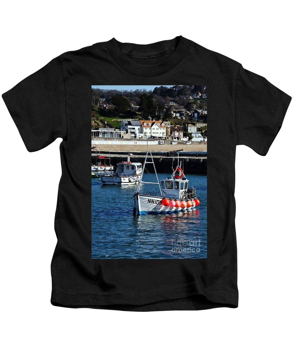 Lyme Regis Kids T-Shirt featuring the photograph Lyme Regis Harbour by Susie Peek