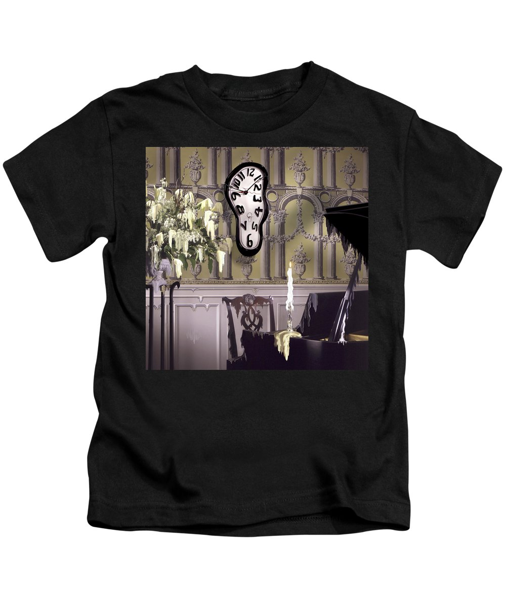 Surrealism Kids T-Shirt featuring the photograph Meltdown II by Mike McGlothlen