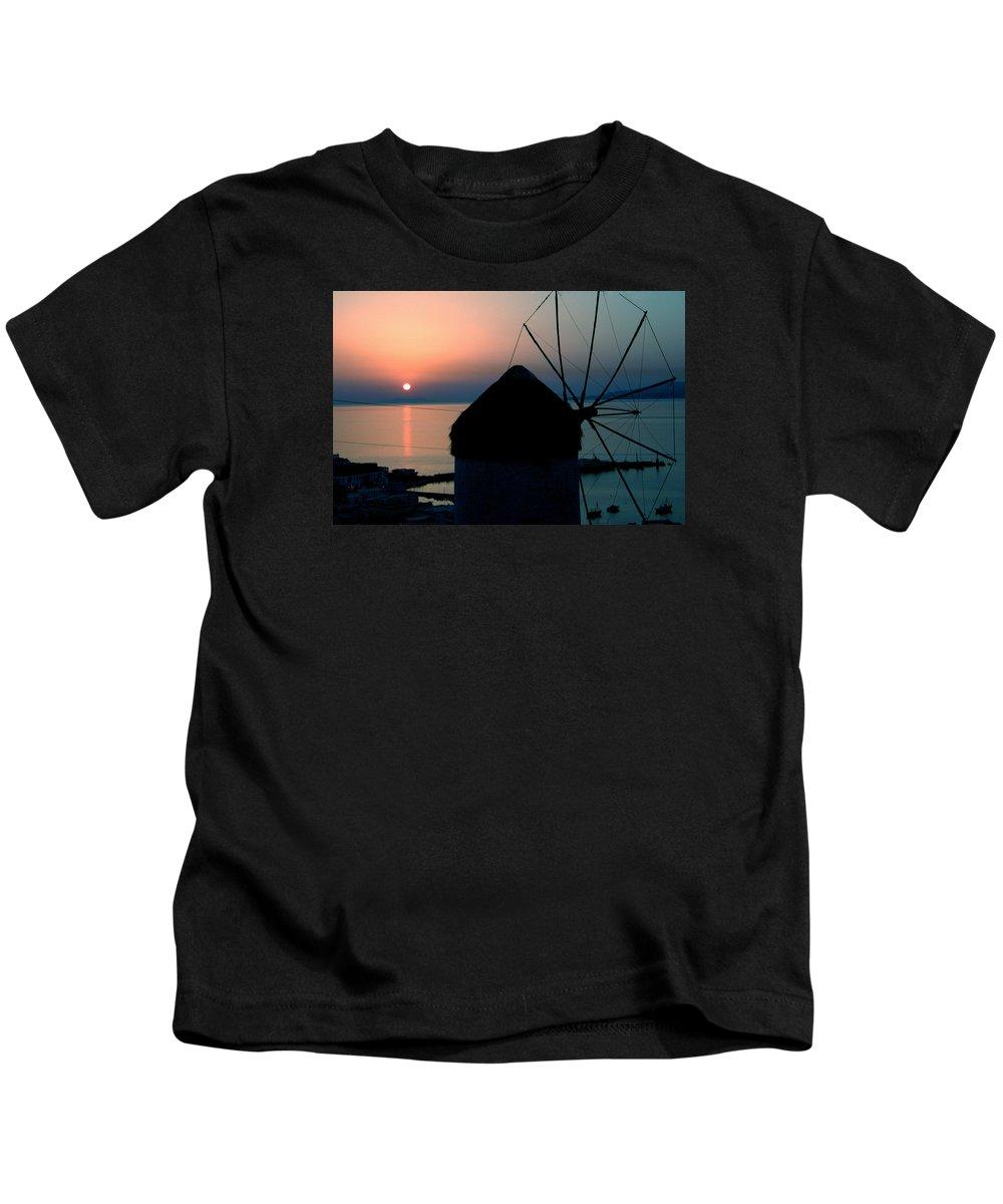 Colette Kids T-Shirt featuring the photograph Mykonos Island Greece by Colette V Hera Guggenheim