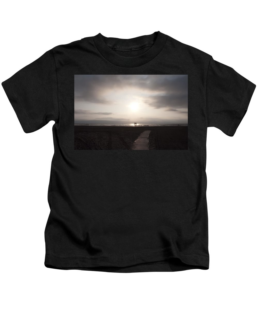 North Kids T-Shirt featuring the photograph North Wildwood Beach by Bill Cannon