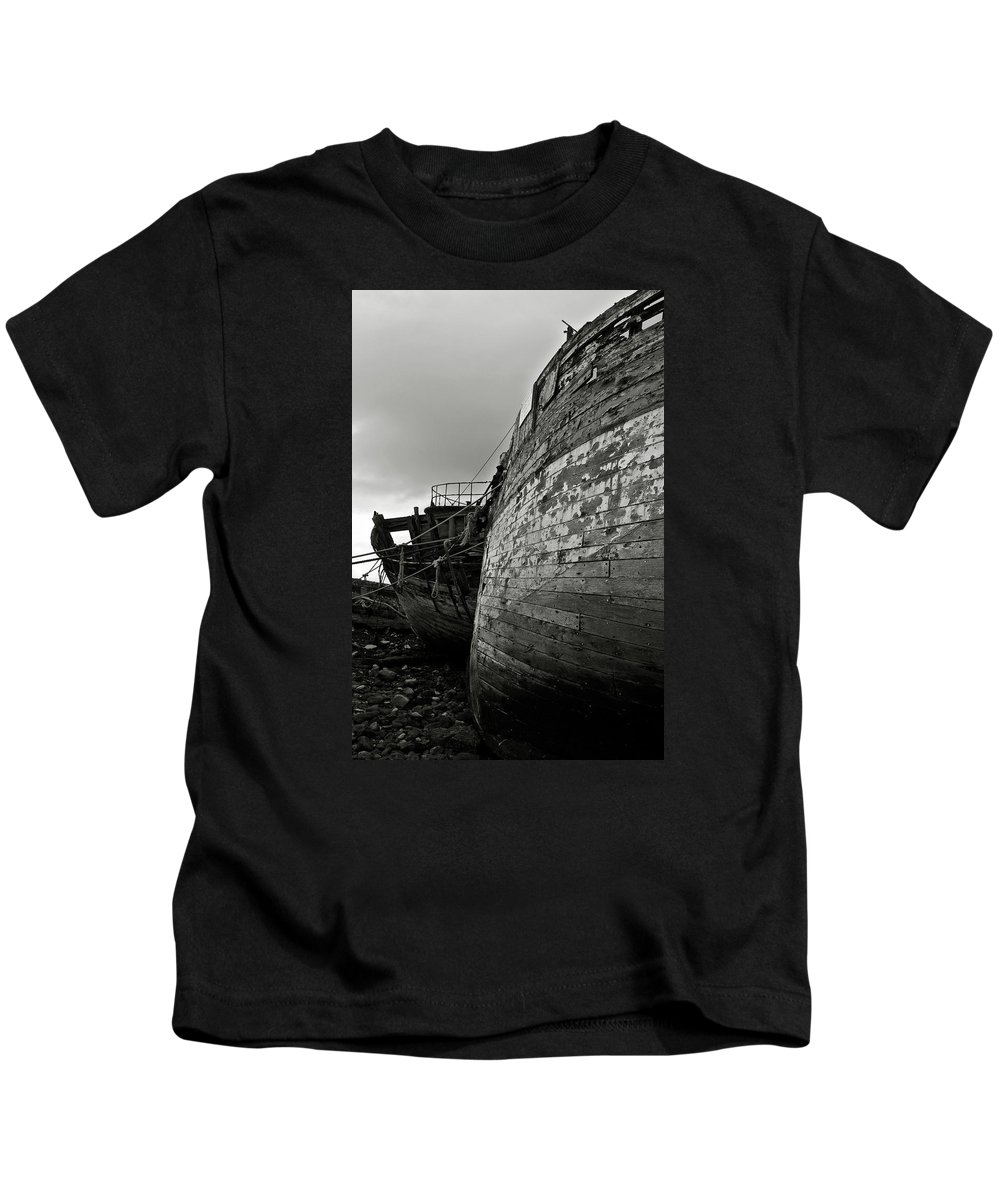 Old Kids T-Shirt featuring the photograph Old Abandoned Ships by RicardMN Photography