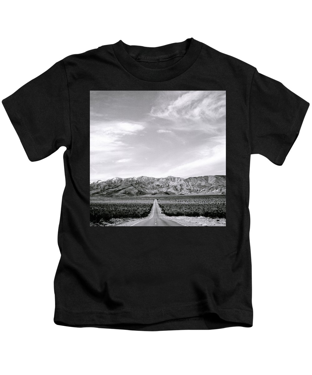 Inspiration Kids T-Shirt featuring the photograph On The Road by Shaun Higson