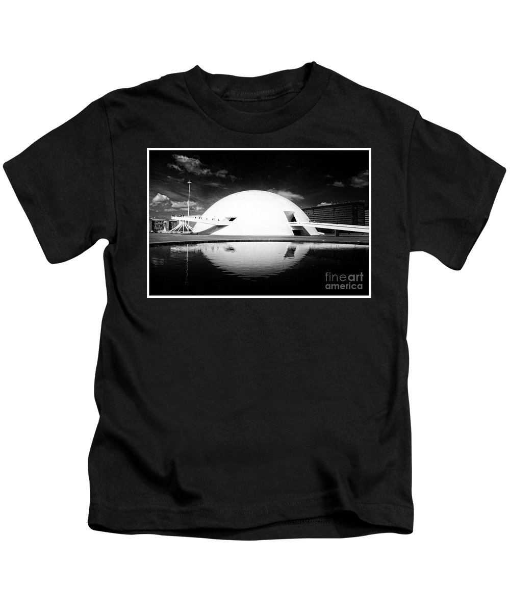Kids T-Shirt featuring the photograph Oscar Niemeyer Architecture- Brazil by Karla Weber