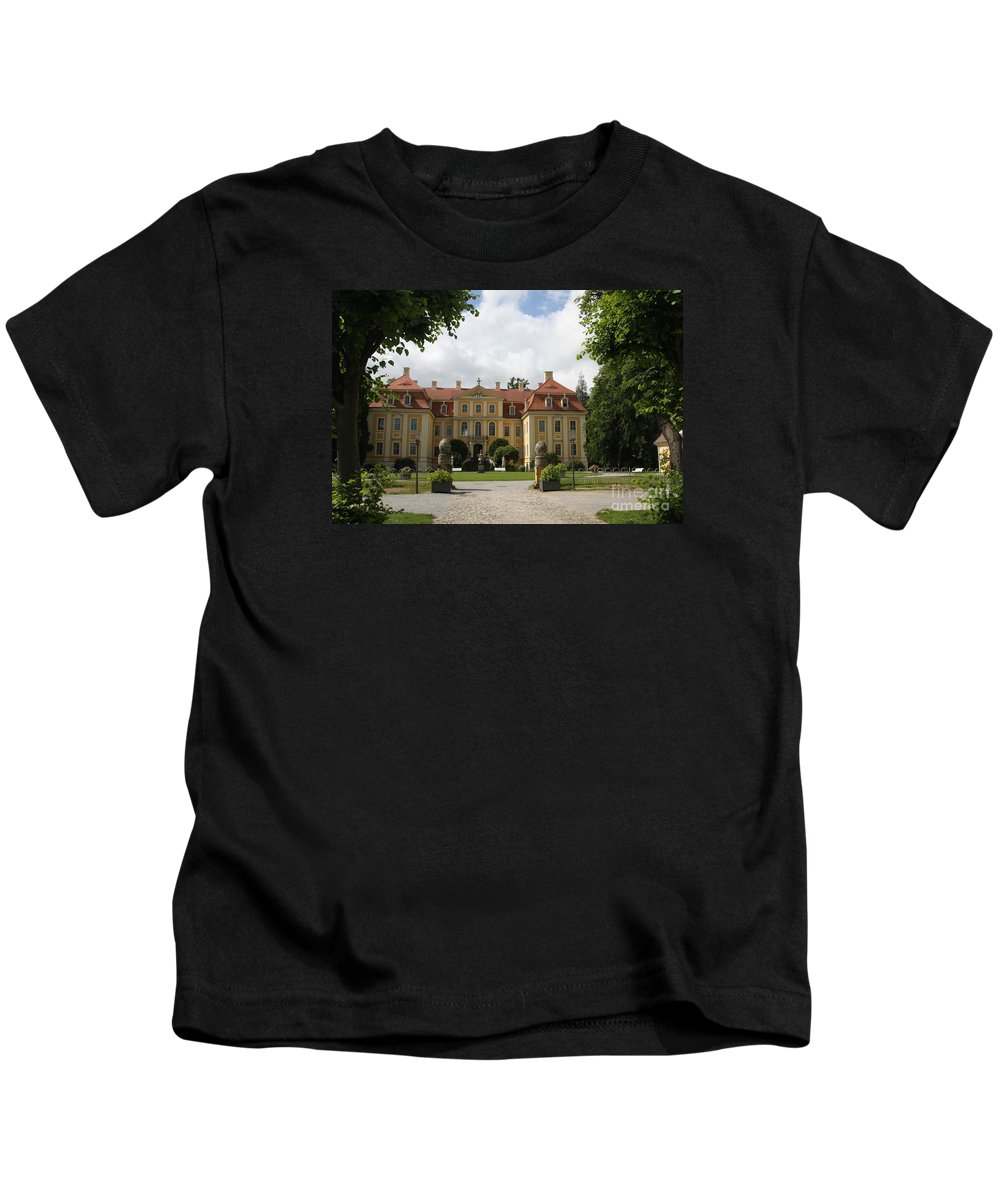 Palace Kids T-Shirt featuring the photograph Palace Rammenau - Germany by Christiane Schulze Art And Photography