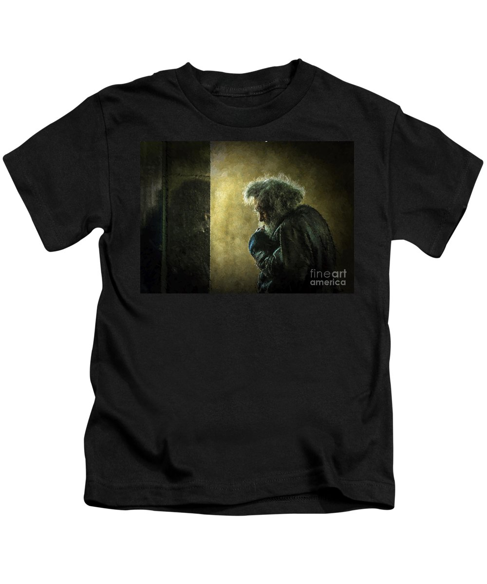 Homeless Kids T-Shirt featuring the photograph Portrait Of The Homeless by Sheila Smart Fine Art Photography