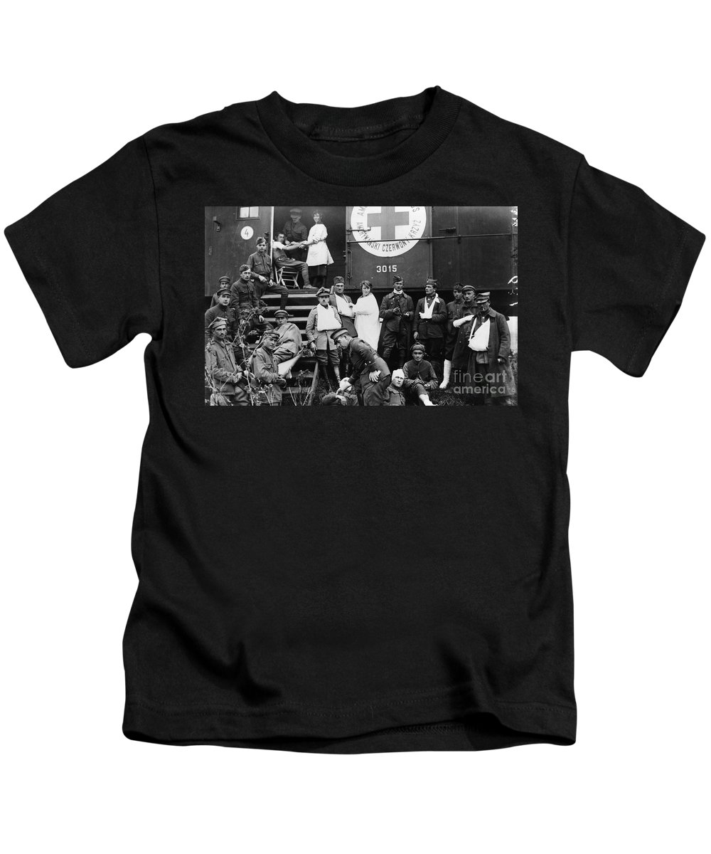 1918 Kids T-Shirt featuring the photograph Red Cross, C1918 by Granger