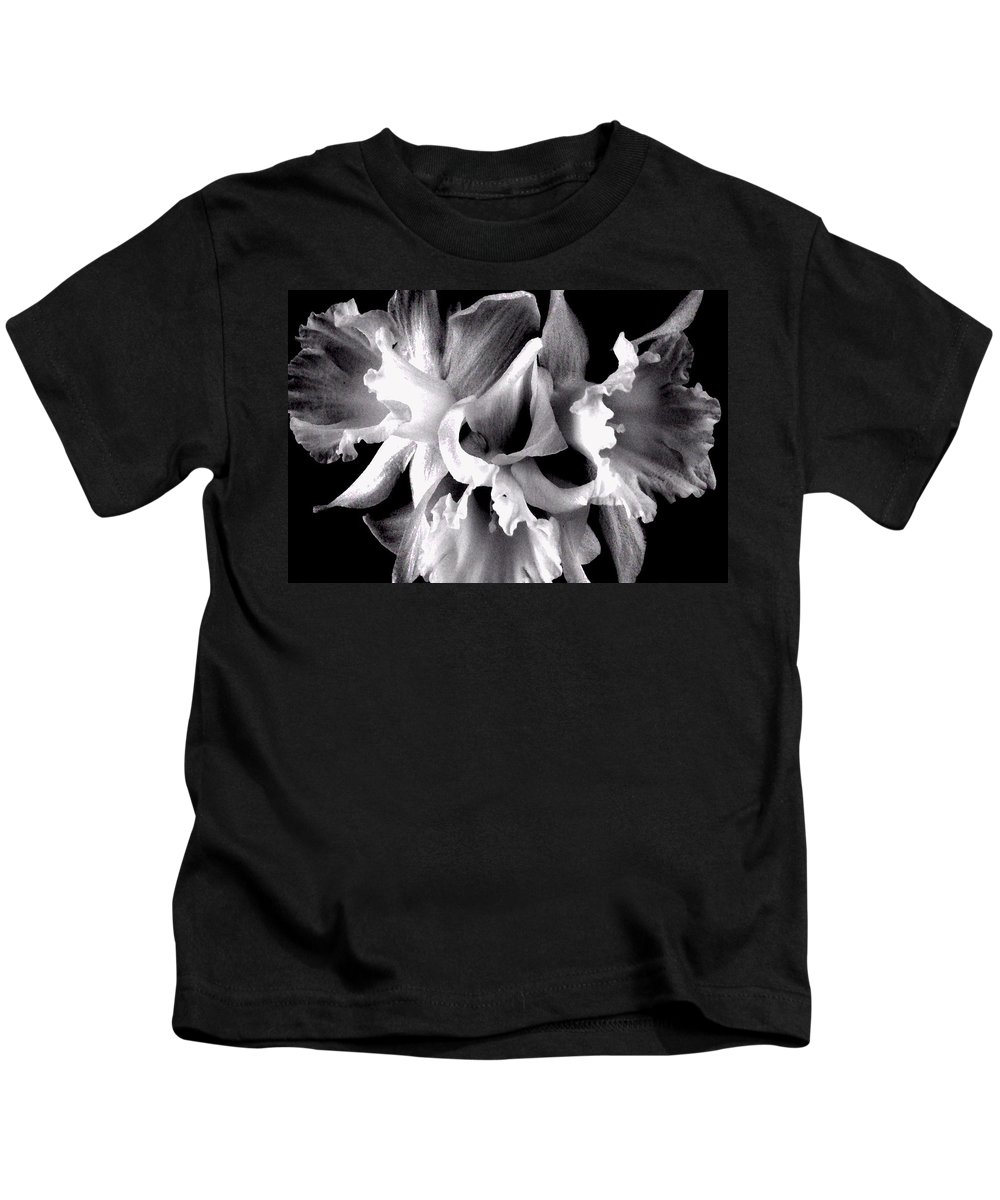 Ruffles Kids T-Shirt featuring the photograph Ruffled Daffodils by Marianne Dow