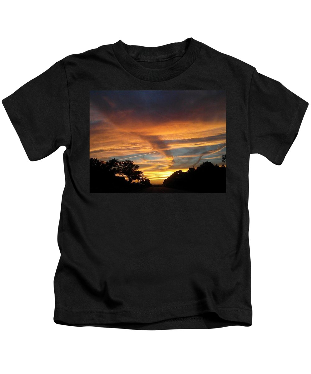 Dusk Kids T-Shirt featuring the photograph Sailor's Delight by Photo by Awo