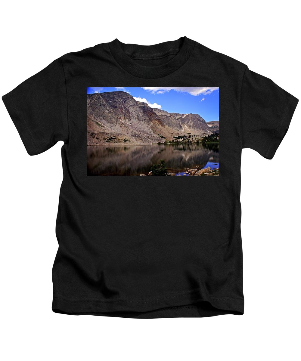 Snowy Mountains Kids T-Shirt featuring the photograph Snowy Mountain Loop 1 by Marty Koch