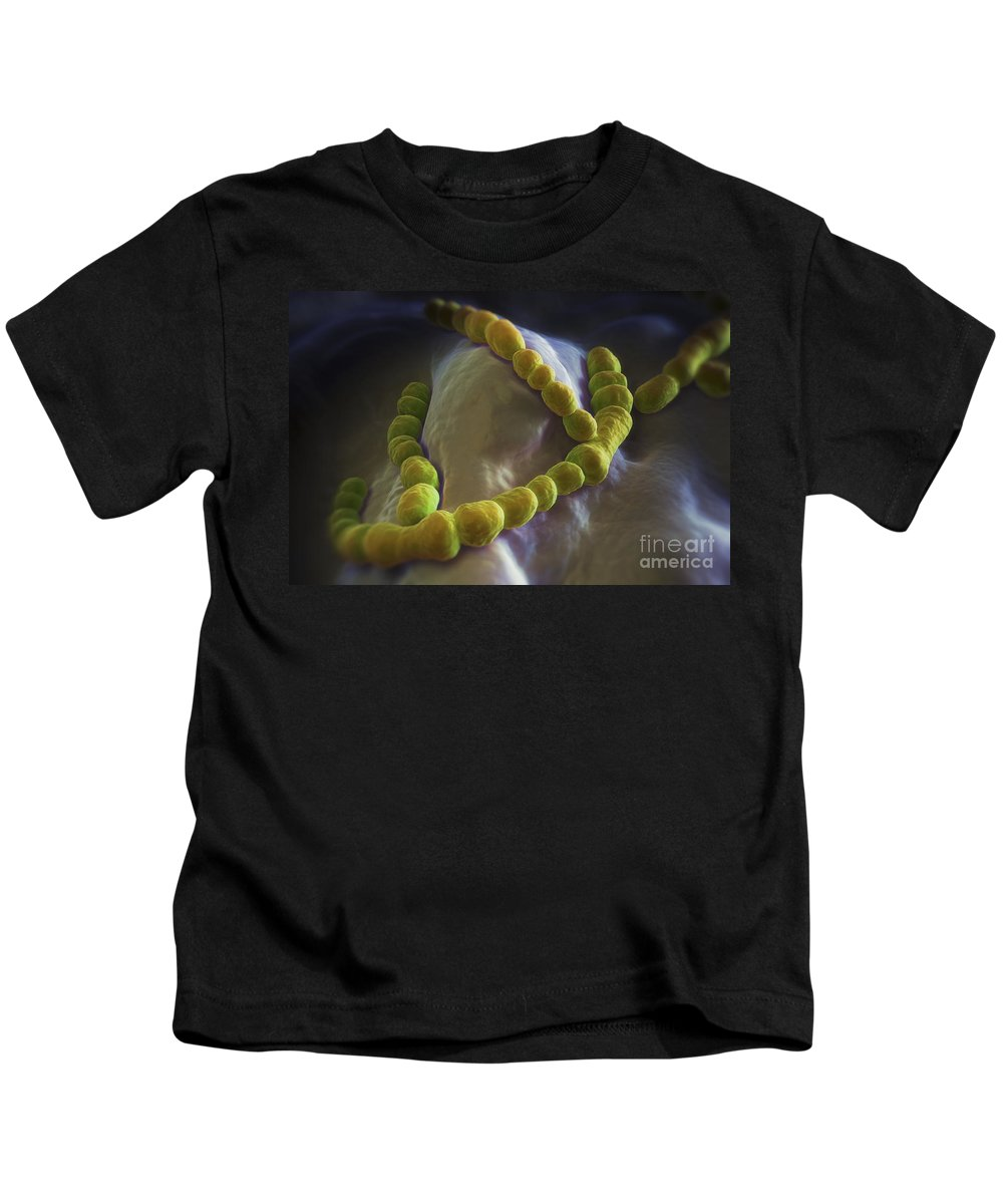 Coccus Bacteria Kids T-Shirt featuring the photograph Streptococcus Pneumoniae by Science Picture Co