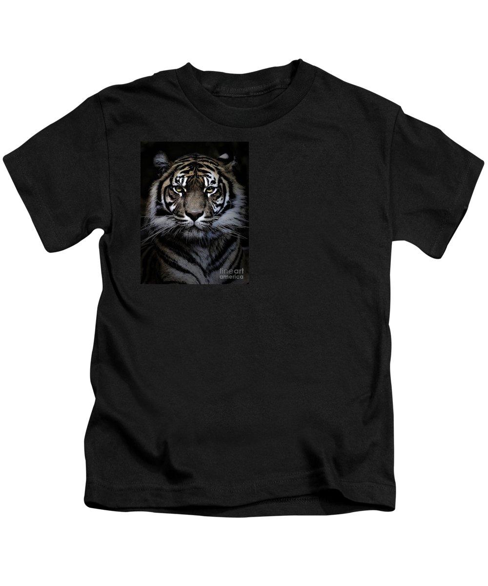 Animal Kids T-Shirt featuring the photograph Sumatran tiger by Sheila Smart Fine Art Photography
