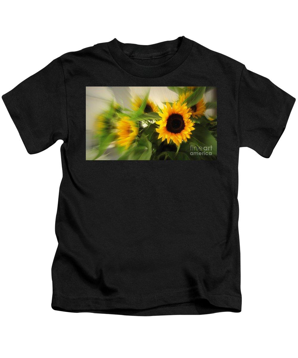 Sun Flower Kids T-Shirt featuring the photograph Summertime by Susanne Van Hulst