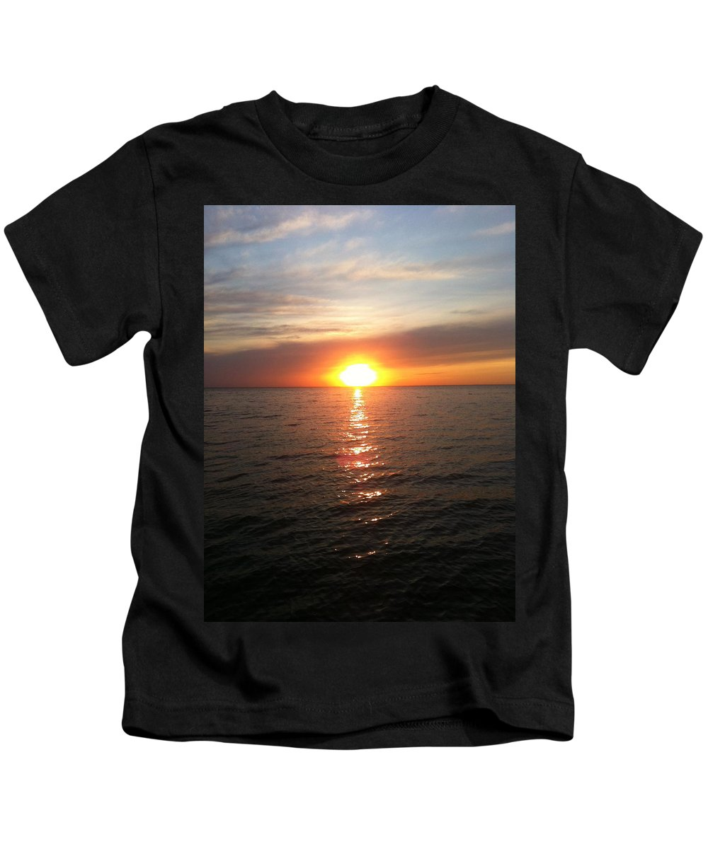 Sunset Kids T-Shirt featuring the photograph Sunset On The Bay by Tiffany Erdman