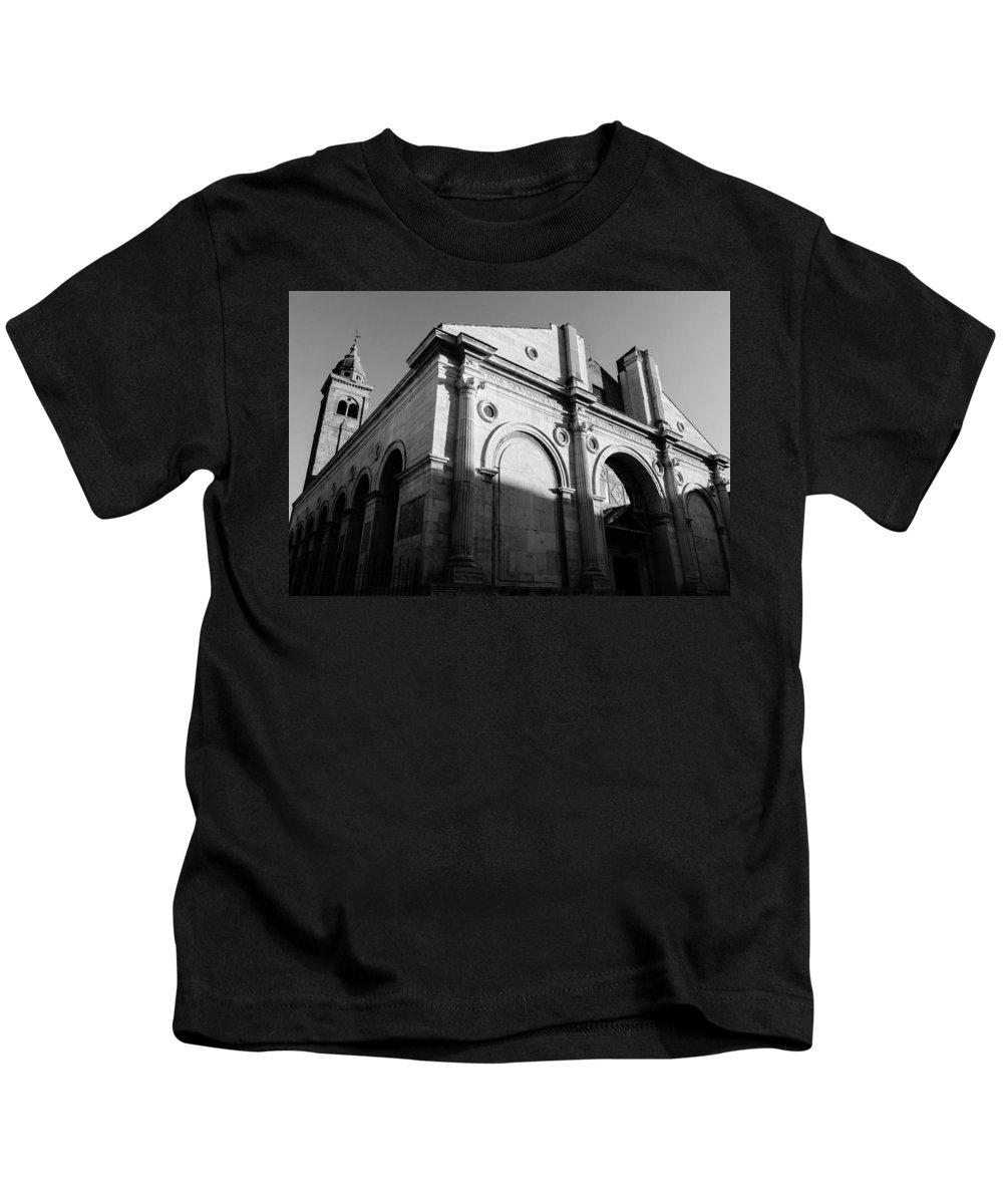 Rimini Kids T-Shirt featuring the photograph Tempio Malatestiano In Rimini Italy by Andrea Mazzocchetti