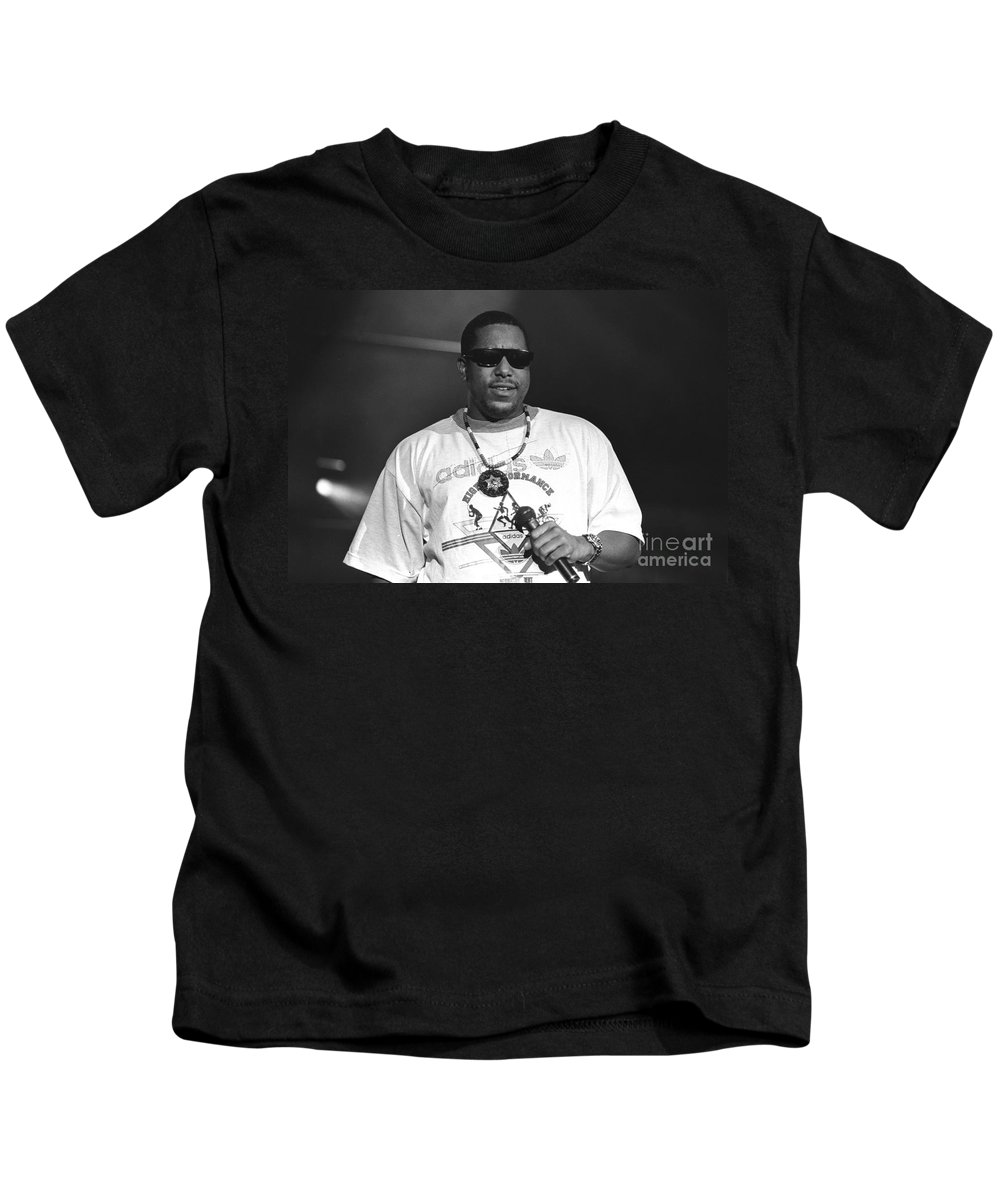 Grammy Nominated Rapper And Actor Anthony Terrell Smith Kids T-Shirt featuring the photograph Rapper Tone Loc by Concert Photos