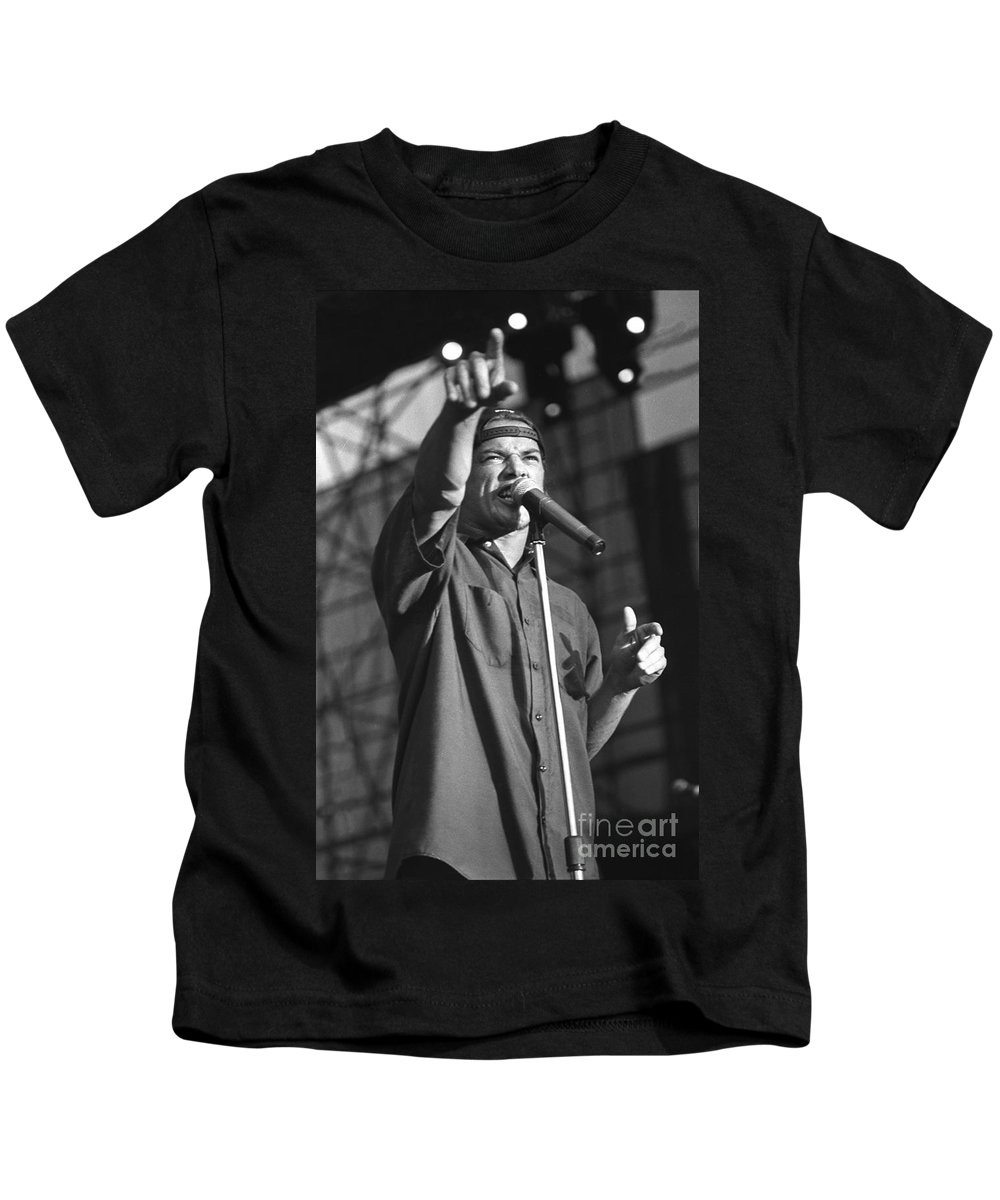 Lead Singer Kids T-Shirt featuring the photograph Ugly Kid Joe - Whitfield Crane by Concert Photos