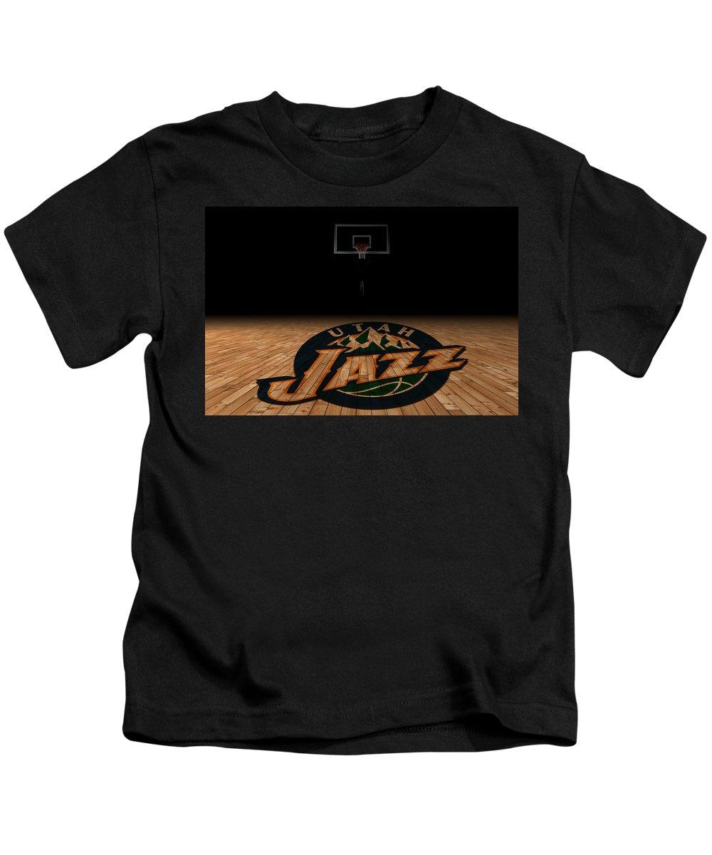 Jazz Kids T-Shirt featuring the photograph Utah Jazz by Joe Hamilton
