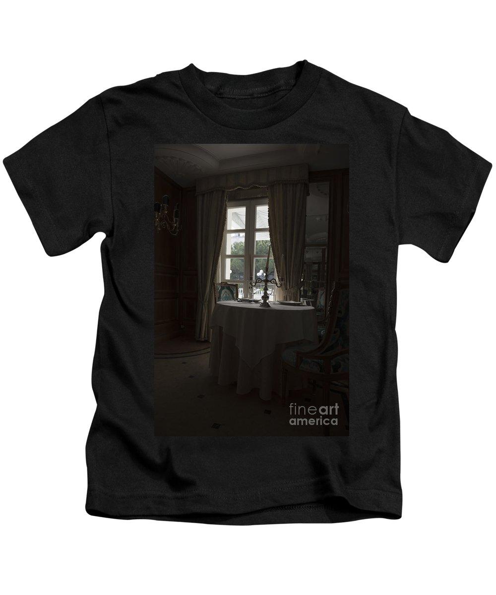 Table Kids T-Shirt featuring the photograph Window Light by Mats Silvan