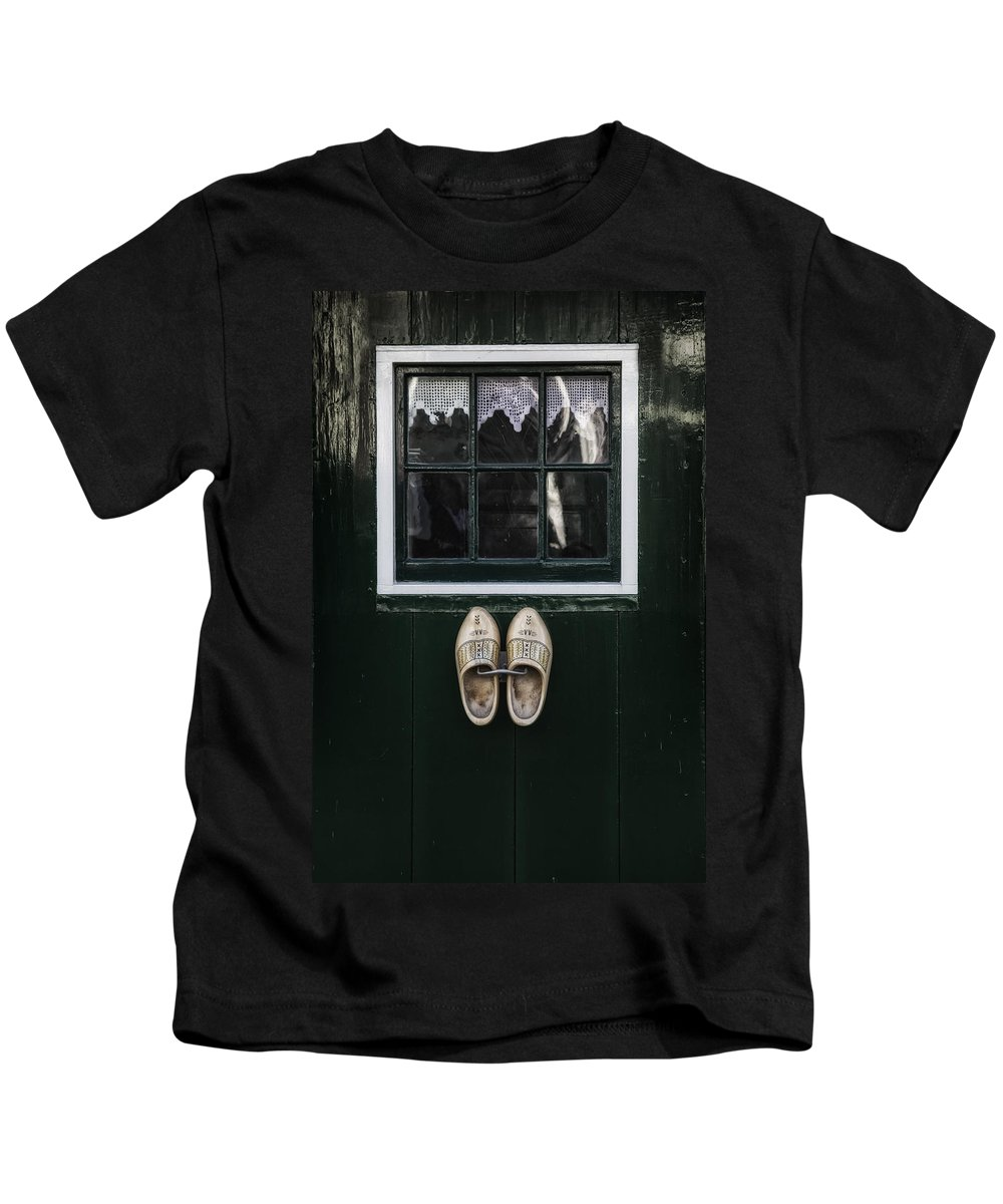 Dutch Kids T-Shirt featuring the photograph Wooden Shoes by Joana Kruse