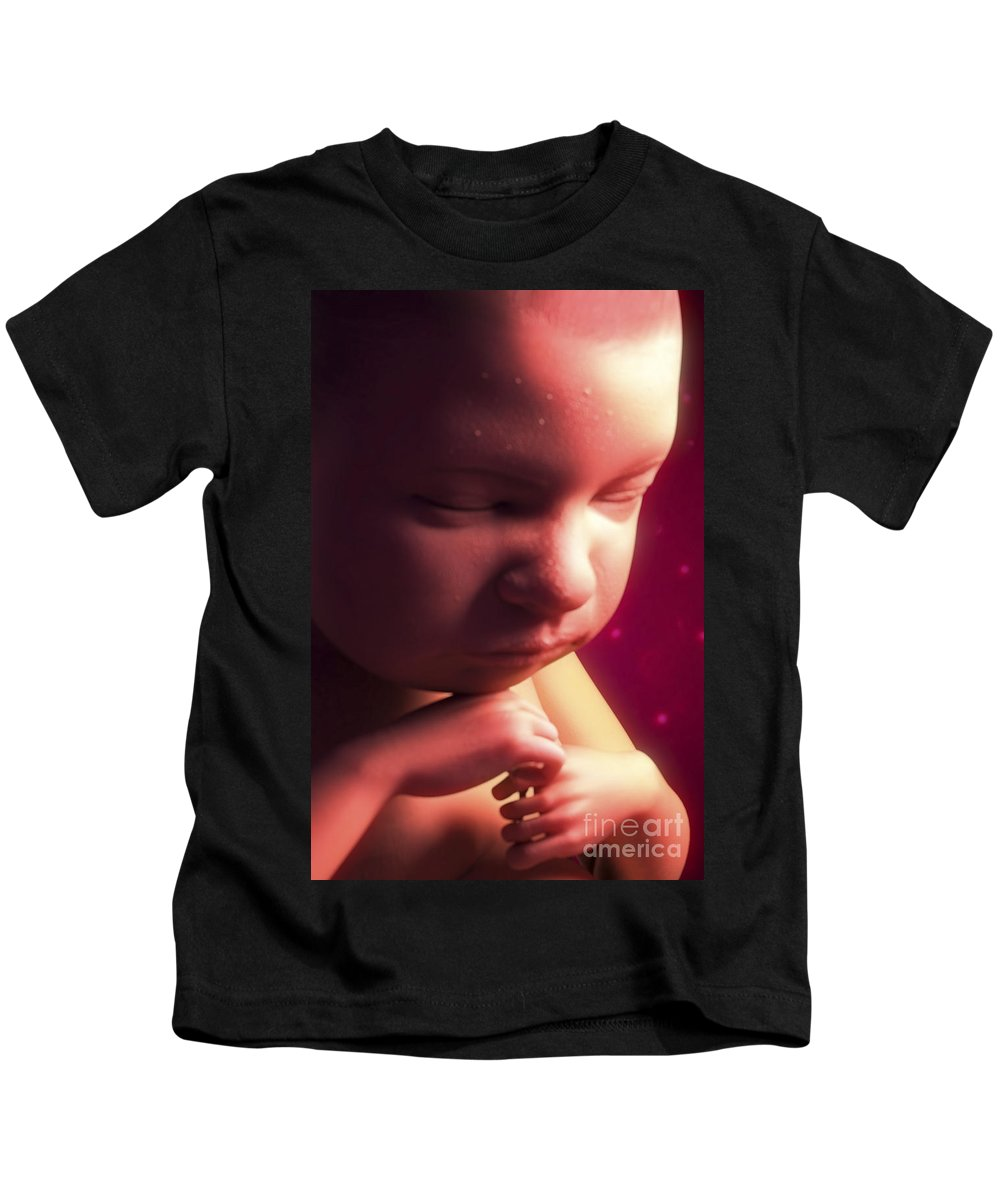 Fetus Kids T-Shirt featuring the photograph Developing Fetus by Science Picture Co