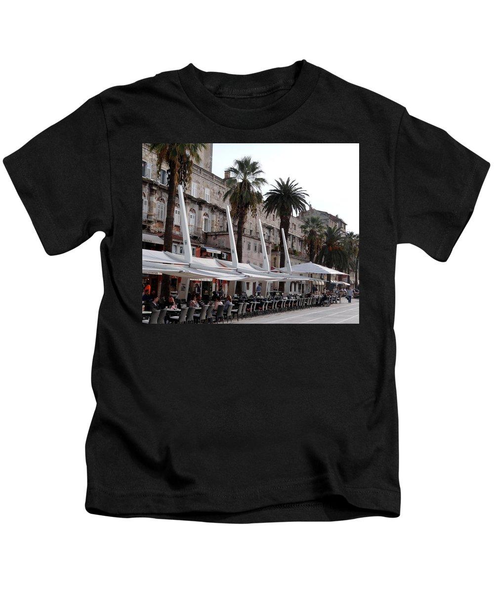 Mediterranean Kids T-Shirt featuring the photograph Views Of Split Croatia by Richard Rosenshein