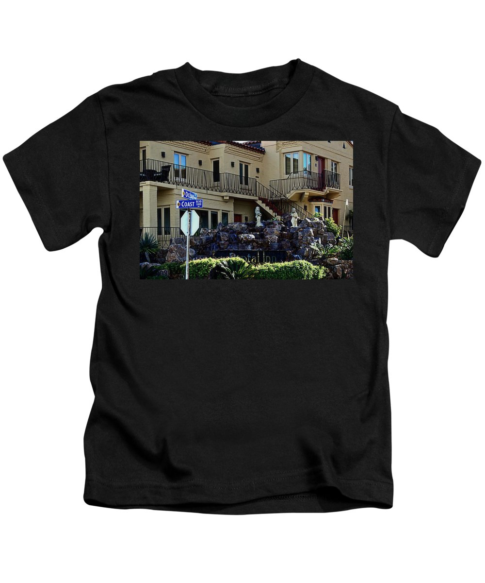 Coast Kids T-Shirt featuring the photograph 1000 Coast Blvd by See My Photos