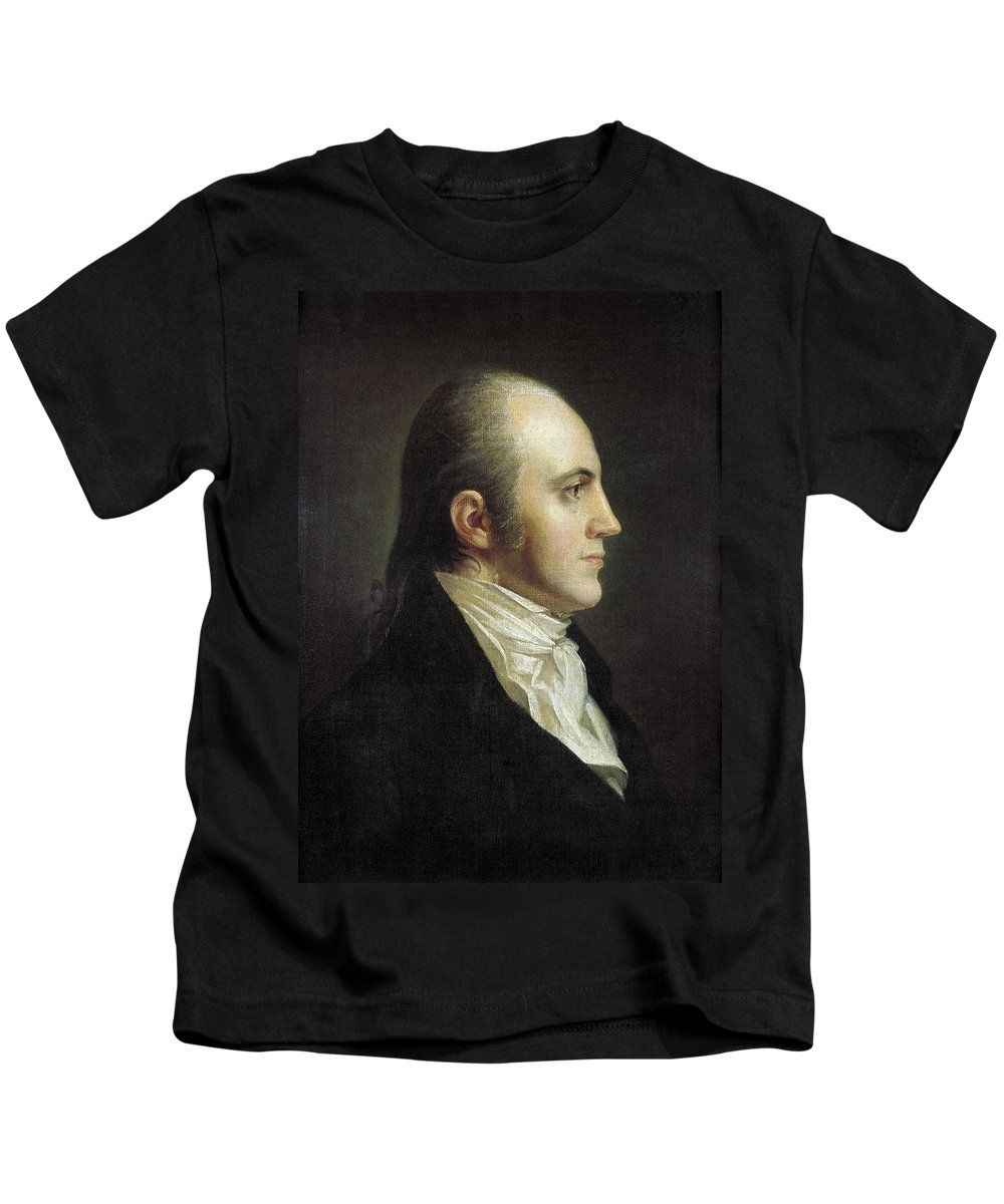 19th Century Kids T-Shirt featuring the painting Aaron Burr (1756-1836) by Granger