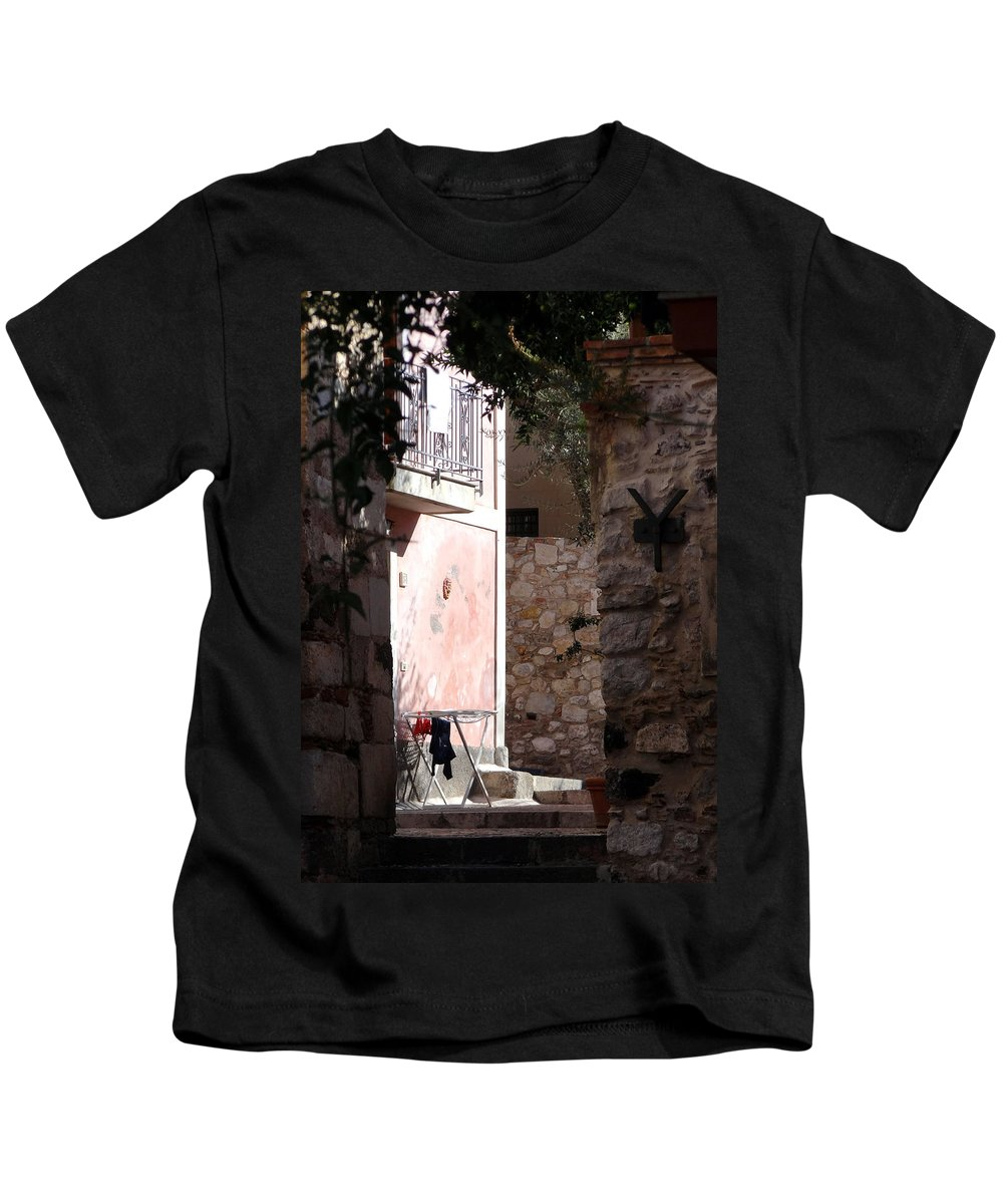 Mediterranean Kids T-Shirt featuring the photograph Views Of Taormina Sicily by Richard Rosenshein