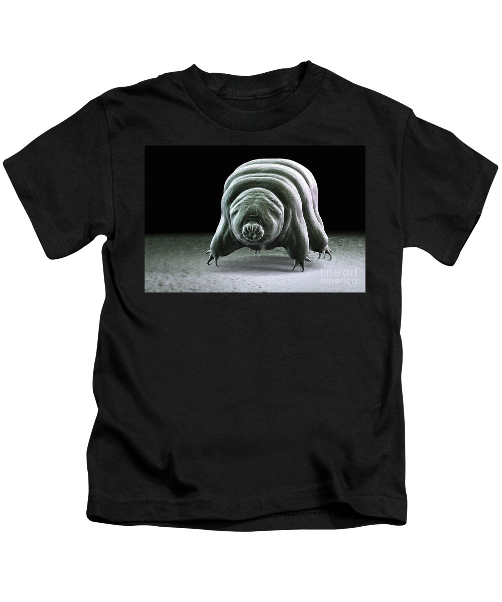 Protostomia Kids T-Shirt featuring the photograph Water Bear Tardigrades by Science Picture Co