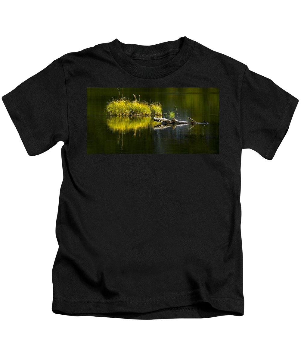Priest Lake Kids T-Shirt featuring the photograph 131005b-029 Forest Pond 2 by Albert Seger