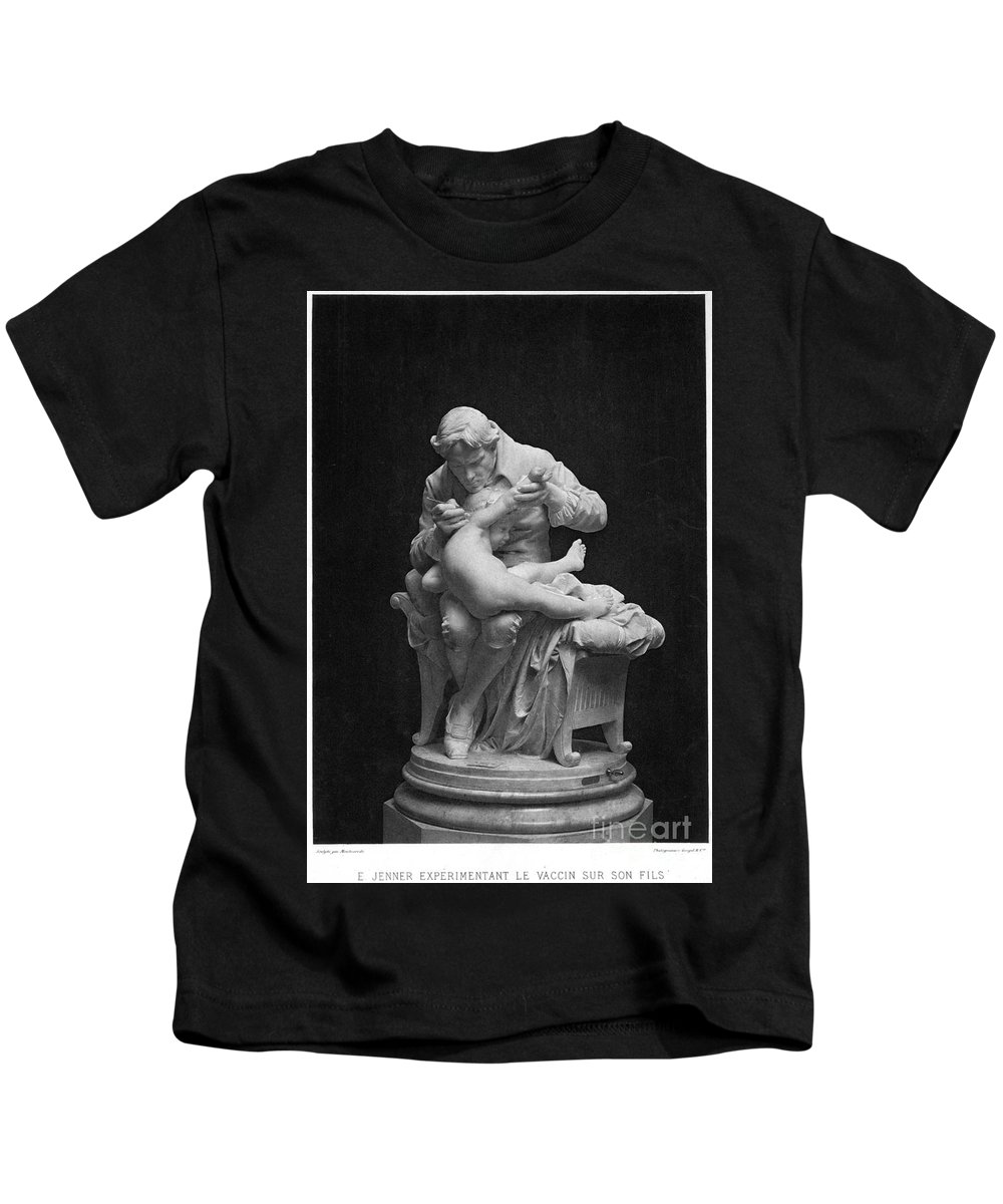 18th Century Kids T-Shirt featuring the photograph Edward Jenner (1749-1823) by Granger