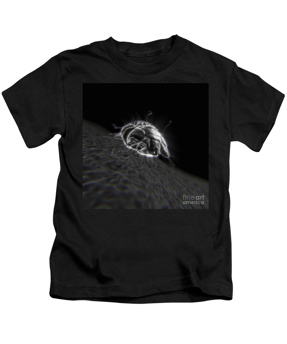 Close Up Kids T-Shirt featuring the photograph Scabies Mite by Science Picture Co