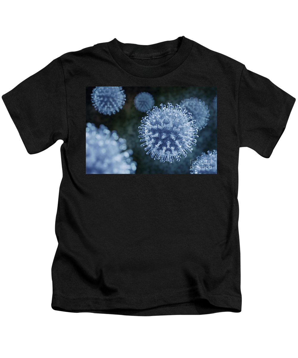 Horizontal Kids T-Shirt featuring the photograph Swine Influenza Virus H1n1 by Science Picture Co