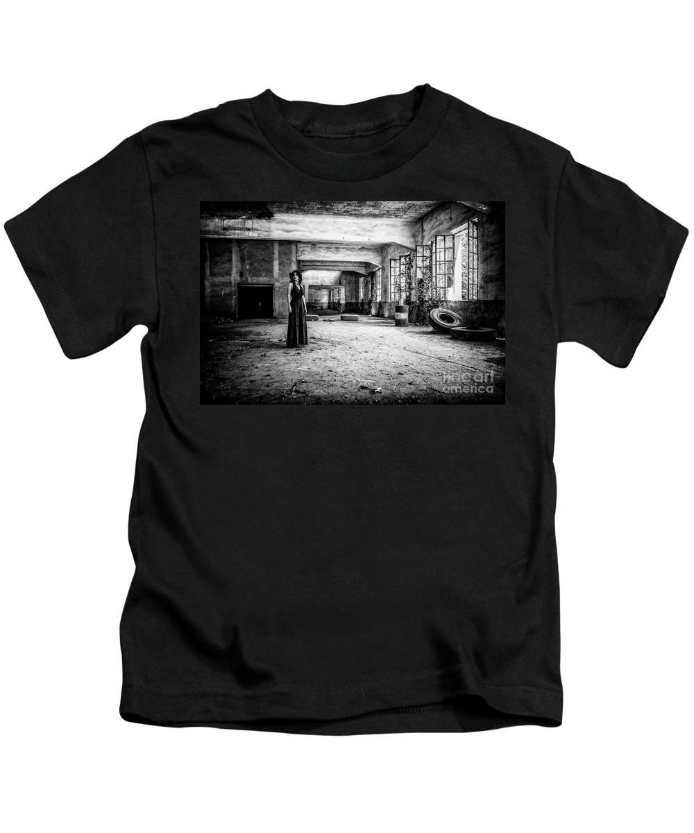Abandoned Kids T-Shirt featuring the photograph This Is The Way Step Inside by Traven Milovich