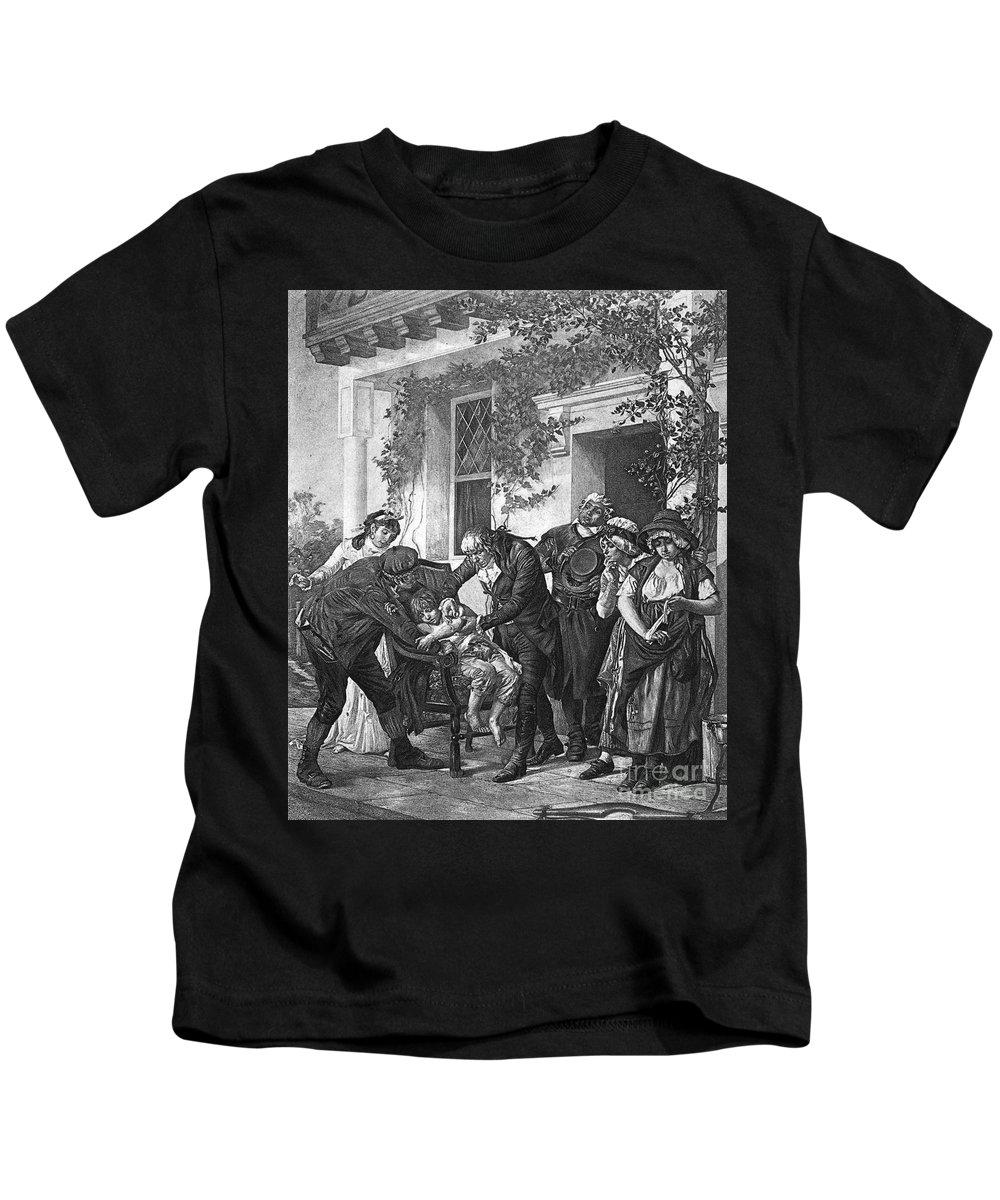 1796 Kids T-Shirt featuring the photograph Edward Jenner (1749-1823) by Granger